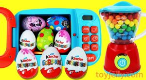 Bubble Gumballs KINDER Chocolate Surprise Eggs Magical Microwave Oven Blender Toy Playset for Kids 300x165 - Bubble Gumballs KINDER Chocolate Surprise Eggs Magical Microwave Oven Blender Toy Playset for Kids