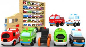 Colors for Children to Learn with Wooden Toy Transporter Truck Toy Cars for KIDS 300x165 - Colors for Children to Learn with Wooden Toy Transporter Truck - Toy Cars for KIDS