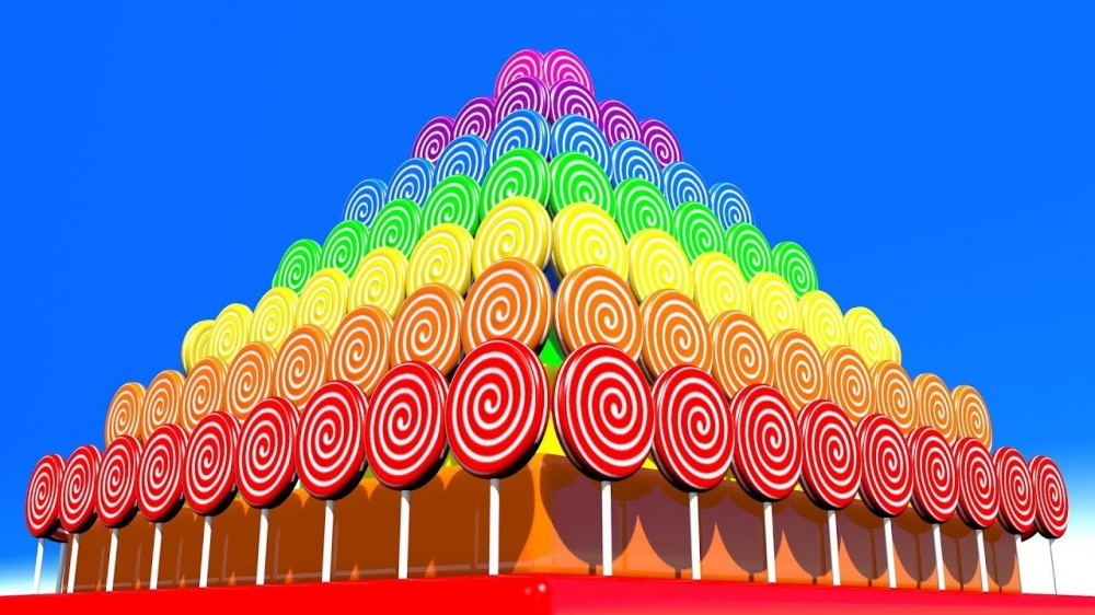 Learn Colors With 3D Lollipops Pyramid For Kids Children - Learn Colors With 3D Lollipops Pyramid For Kids Children