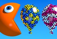 Learn Colors With 3D Pacman and Balloons For Kids Children Babies 200x137 - Learn Colors With 3D Pacman and Balloons For Kids Children Babies