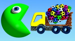 Learn Colors With Big Truck And Pacman For Kids Children 300x165 - Learn Colors With Big Truck And Pacman For Kids Children