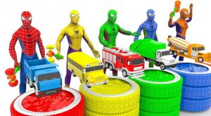 Learn Colors with Spidermans with Dump Truck Toys for Children Trucks Cars Toys for Kids 300x165 - Learn Colors with Spidermans with Dump Truck Toys for Children | Trucks Cars Toys for Kids
