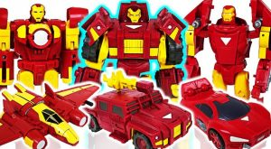 Marvel Avengers Transformers Iron Man the three musketeers Defeat the dinosaurs DuDuPopTOY 300x165 - Marvel Avengers Transformers Iron Man the three musketeers! Defeat the dinosaurs! - DuDuPopTOY
