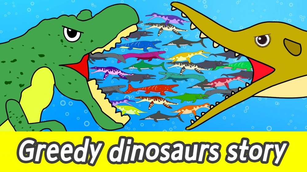 maxresdefault 256 - [EN] Greedy dinosaurs story! kids diet animation, dinosaurs names for childrenㅣCoCosToy