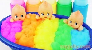 Learn Colors Triple Baby Dolls Color Foam Bubble Bath Time Kinder Suprise Eggs for Boys amp Girls 300x165 - Learn Colors Triple Baby Dolls Color Foam Bubble Bath Time Kinder Suprise Eggs for Boys & Girls
