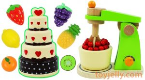 Squishy Birthday Cake Toy Mixer Playset Learn Fruits amp Vegetables with Wooden Velcro Toys for Kids 300x165 - Squishy Birthday Cake Toy Mixer Playset Learn Fruits & Vegetables with Wooden Velcro Toys for Kids