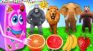 Wild Animals Eats Ice Cream Refrigerator Toy For Kids Outdoor Playground Learn Fruits Nursery Rhymes 300x165 - Wild Animals Eats Ice Cream Refrigerator Toy For Kids Outdoor Playground Learn Fruits Nursery Rhymes